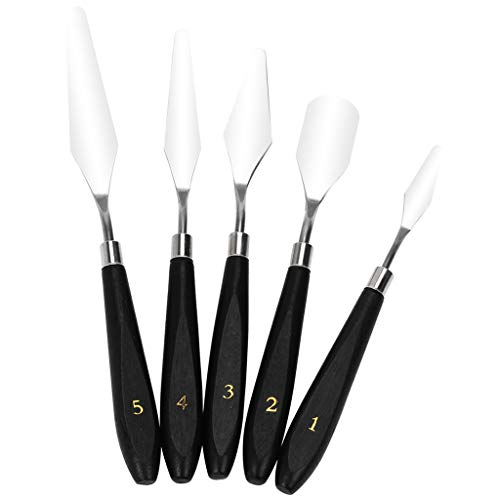 balikha 5 Kinds of 3D Print Renoval Tools with Wooden Handle Spatula Cleaning