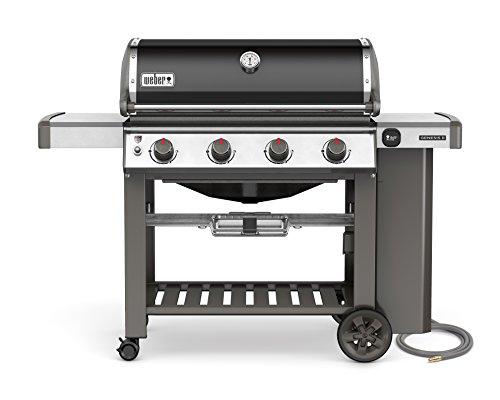 Weber 67010001 Genesis II E-410 Natural Gas Grill, Black, Four-Burner