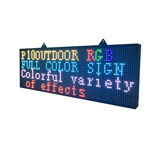 WiFi LED Sign - Programmable LED Sign P10 SMD Full Color Scrolling LED Signs 39'x14' High Brightness Outdoor LED Advertising Display Panel