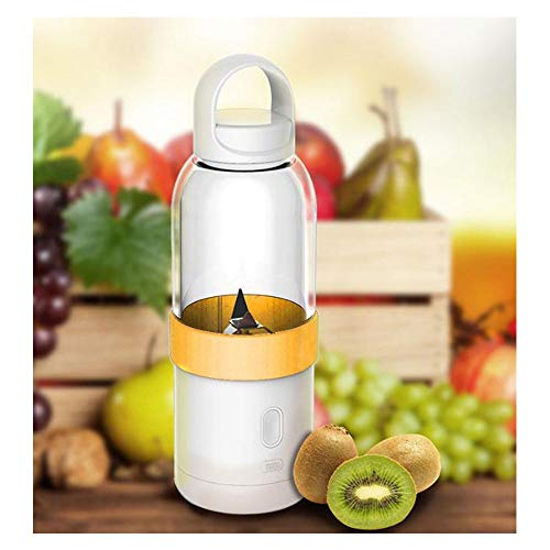 Chunchun Tragbare Mixer, Travel Juicer 600ML USB wiederaufladbare Mini-Mixer for Office Sports Travel (Color : Yellow)