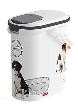 CURVER   Verseuse à croquettes 10L/4Kg - love pets - Chien, Blanc, Pet dry food container, 19,2x29,5x34,8 cm