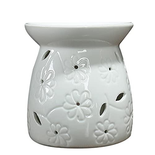Lecimo Lámpara de Porcelana de Quemador de Incienso de Aceite Esencial de candelero de cerámica para decoración del hogar