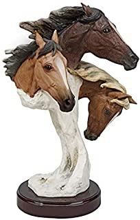 Design Toscano Racing the Wind Wild Horse Statue by Samuel Lightfoot, Large, Multicolored