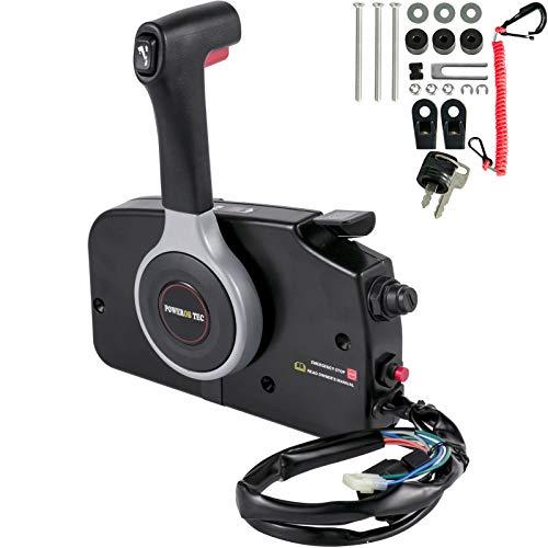Bestauto Boat Throttle Control 67200-93J50 Boat Control Box Outboard Remote Control for Suzuki Outboard Motor Side Mount