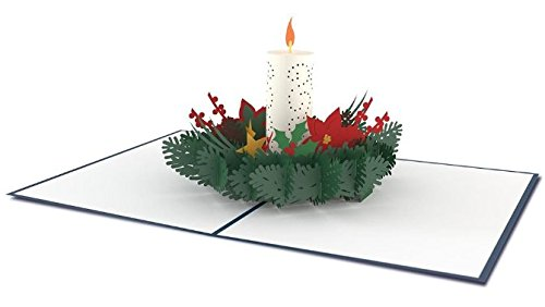Lovepop Christmas Candle 3D card
