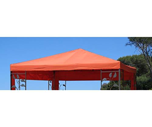 GRASEKAMP Qualität seit 1972 Ersatzdach zu Blätter Pavillon 3x3m Terrakotta