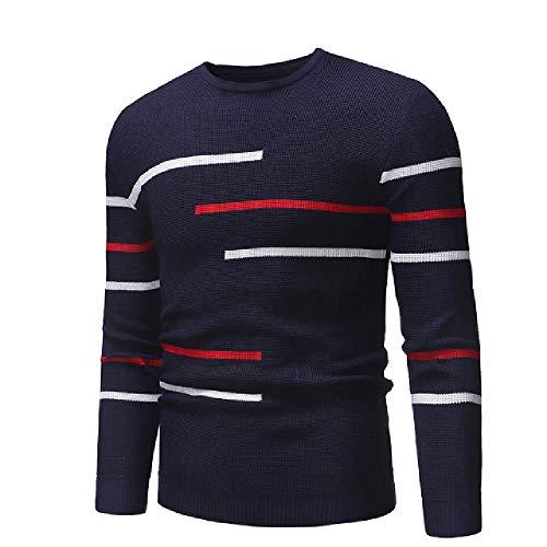 LILIZHAN Sweater Gestreept Patchwork Slim Fit Gebreide Truien Herfst Winter Warm O Neck Casual Truien