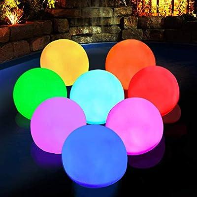 DeeprBlu Floating Lights for Pool Glow Ball Lights