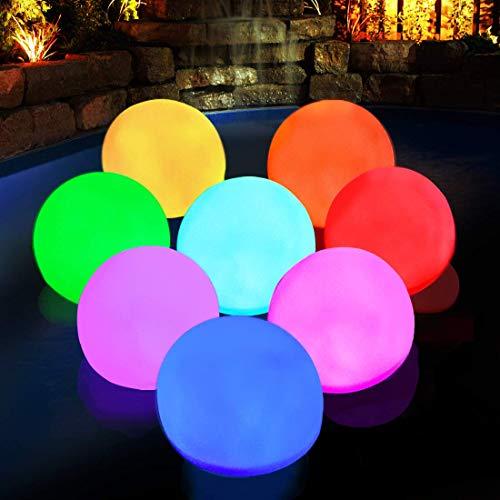 Whirlpool Licht, IP68 Wasserdichtes schwimmendes Badewanne Licht, RGB Farbwechsel Pool Nacht Licht, LED Stimmung Ball Licht Geschenk für Kinder Liebhaber Freunde Familie Baby Mädchen Jungen Kind-6pcs