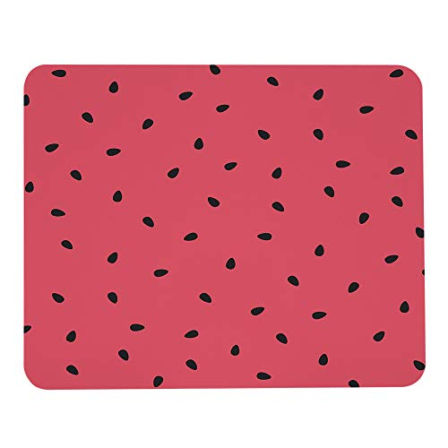 Wozukia Watermelon Slices Mouse Pad with Black Seeds Summer Sweet Fruit Red Gaming Mouse Mat Non-Slip Rubber Base Thick Mousepad Personalized Design Mouse Pad for Laptop Computer PC 9.5x7.9 Inch