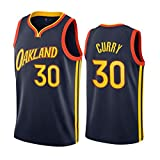 XHDH Uniforme de Baloncesto para Hombres, Golden State Warriors # 30 NBA Curry Baloncesto Uniforme Suelto y cómodo Chaleco Deportivo sin Mangas Top Camisetas,S