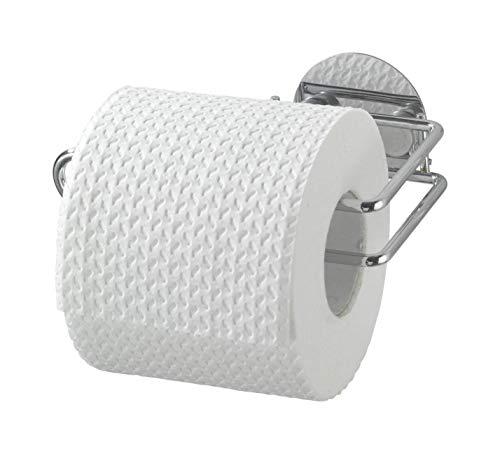 WENKO Turbo-Loc Toilettenpapierrollenhalter - Befestigen ohne bohren, Stahl, 14 x 6 x 9 cm, chrom