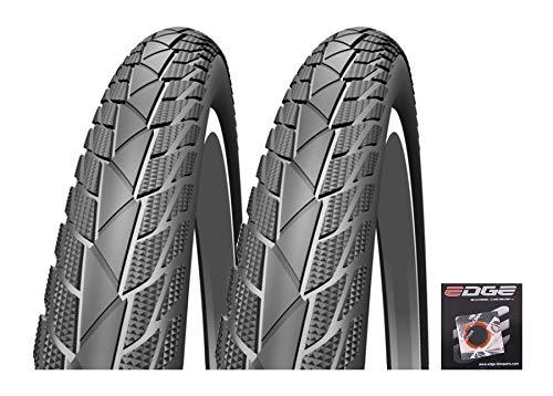 Edge 2 Impac StreetPac Fahrradreifen 28 x 1,40 Zoll 37-622 Pannenschutz Reflektorstreifen Inkl Flicken (Ohne Schläuche)