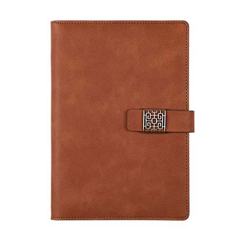 Cuaderno Grueso Cuaderno Clásico Rayado Tapa dura Pestañas de papel Diario Libro Libro de aprendizaje Regalos para estudiantes Grandes 100 páginas, 8.5 & rdquo; x 5.8 & rdquo;Bullet journal (Color: