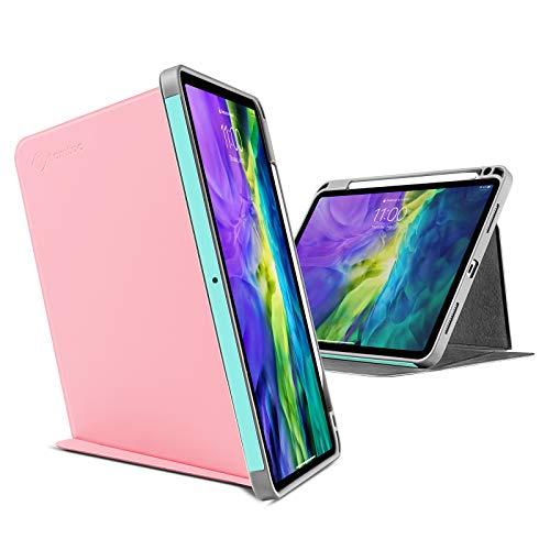 tomtoc Funda para iPad Pro 11, Funda Vertical Tríptico con Soporte para Lápiz de Apple, Funda Protectora con Soporte Magnético para 3 Modos de Uso, Soporte para Carga Inalámbrica de Lápiz para iPad
