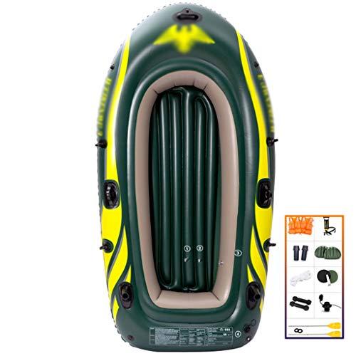 YUESFZ Kayaks y piraguas de mar Kayaks hinchables Bote De Goma Plegable, Bote Inflable Resistente Al Desgaste Engrosado, Bote De Asalto Extra Grueso De 2 3 4 Personas (Color : Green-7.5ft- 3people)