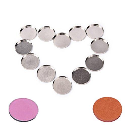 24 Stücke Leere Lidschatten Pfannen Make-Up-Palette Leere Lidschatten Aluminium Fall Erröten Lippenfarbe Pulver