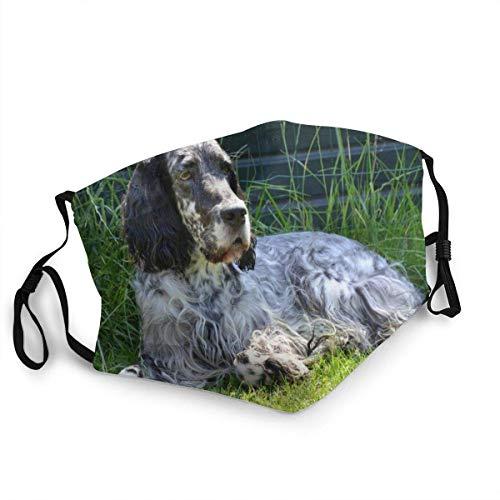 Englisch Setter Hund Freizeit Bandana Kopfbedeckung Gesichtsdekorationen FA-Ce Co-Ver Mit Filtern