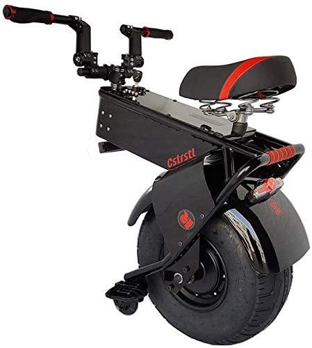 JILIGUALA 60 V 1500 W Scooter eléctrico potente neumáticos para scooter una gran rueda de Segway Moto Monociclo Eléctrico Adultos Scooter (Tamaño, 60 km) 90 km