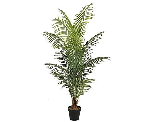 Kunstpalme Areca mit 14 Palmwedel Höhe 200cm - günstige Kunstpalme ideal für Sommer Sonne Urlaubsdekoration künstliche Palme