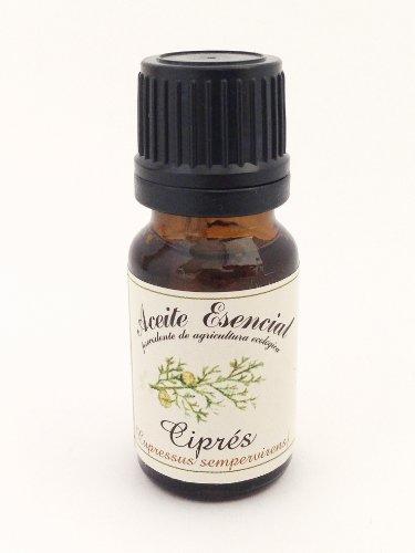 Aceite esencial ecológico de Ciprés (Cupressus sempervirens). 12 ml.