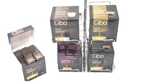 Passend für Qbo You-Rista - Kaffeekapselmaschine und 4 Sorten = 4 Karton immer griffbereit neben der Maschine