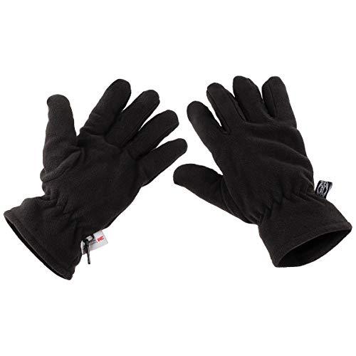 MFH 15403 Fleece-Handschuhe mit 3M™ Thinsulate™ Insulation (Schwarz/XL)