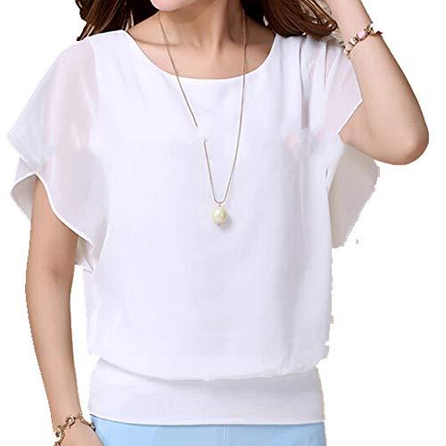 Camiseta de manga corta para mujer. Blanco S