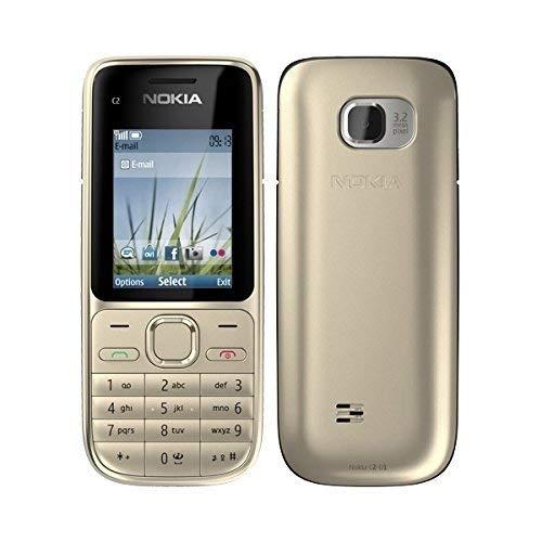 Nokia C2-01 Warm Silver Silber Handy (ohne Simlock, ohne Branding) (Generalüberholt)