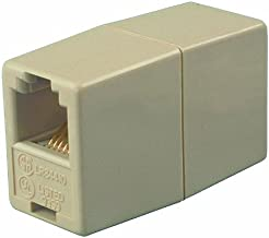 Allen Tel AT210-6-PP 6 Conductor, 6 Position, Wired Pin-To-Pin In-Line Coupler, Ivory