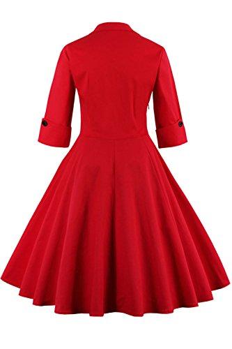Babyonline Rockabilly 50er Polka Dots Punkte 1950er Kleid Petticoat Faltenrock L - 2