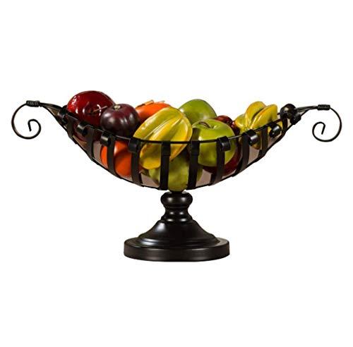 ShiSyan Cestas de picnic, Alambre de metal cesta de fruta - Soporte Mueble de cocina del cuenco de fruta titular vegetal decorativo for el pan, bocadillos, los hogares Los productos de almacenamiento,