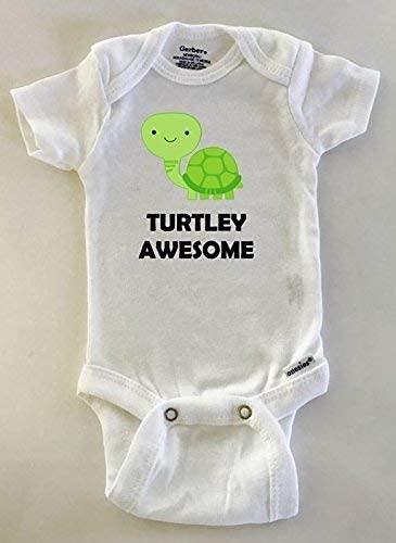 Turtley Awesome turtle Gerber Onesies® bodysuit.