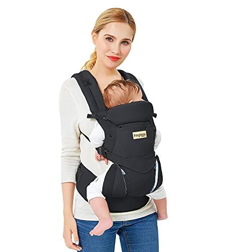 Marsupio Neonati Ergonomico Porta Bebè Puro cotone Hipseat Marsupio Baby Carrier Multiposizione ad Neonati e Bambini da 3 a 48 Mese(3,5 a 20 kg)
