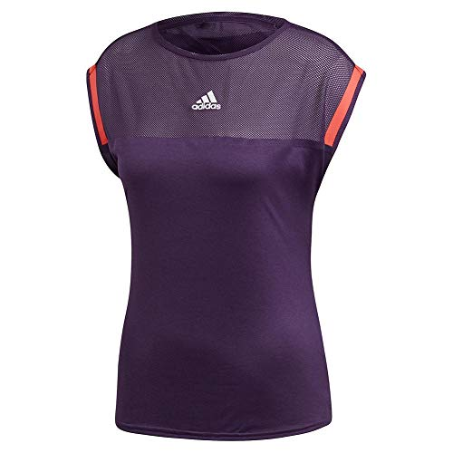 adidas Escouade - Camiseta de Tenis para Mujer, Color Morado y Rojo, S, Púrpura