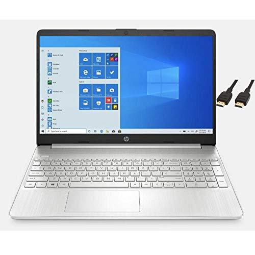 HP 2020 Premium 15.6' FHD Touchscreen Laptop Computer, 4 Core Intel Core i5-1035G1 1.00 GHz, 12GB RAM, 256GB SSD, No DVD, Webcam, Bluetooth, Wi-Fi, HDMI, Win 10, TMLTT HDMI Cable (32GB - 1TB SSD)