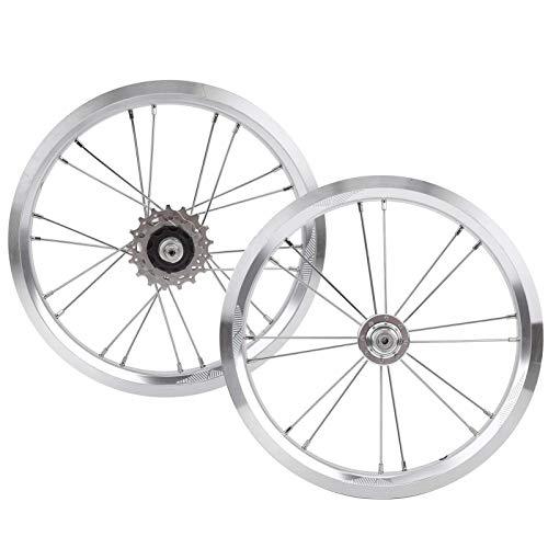 Juego de ruedas para bicicleta, aleación de aluminio de 14 pulgadas Juego...