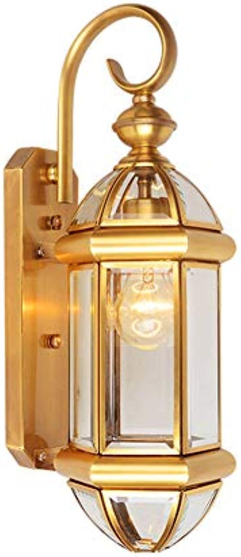 Wandlampe Retro Vintage Design Kupfer IP44 Wasserdichte Wandleuchte 1 flammig Edison Antik Klassisch Messing Glas innen Auen Beleuchtung Wandstrahler Landhaus Flur Bad Lampen E27 Wandbeleuchtung