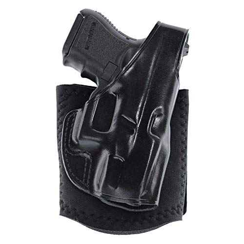 GALCO AG226B Ankle Glove Right Hand Black Leather Holster