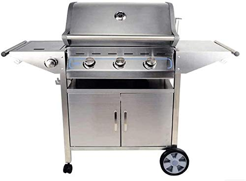 ReWD Barbacoa al aire libre, combinación de carbón vegetal, barbacoa de gas al aire libre, camping, patio, patio, patio, cocina al aire libre