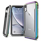 Raptic Shield, Compatible with Apple iPhone XR (Formerly Defense Shield) - Military Grade Drop Tested, Anodized Aluminum, TPU, and Polycarbonate Protective Case for Apple iPhone XR, Iridescent