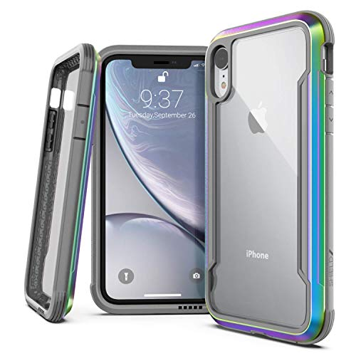 Raptic Shield, Compatible with Apple iPhone X/Xs (Formerly Defense Shield) - Military Grade Drop Tested, Anodized Aluminum, TPU, and Polycarbonate Protective Case, Iridescent