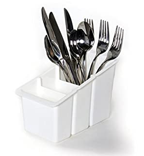 Delfinware Plastic Cutlery Basket, White, 19 x 10.5 x 13 cm (B001EIH0Q4) | Amazon price tracker / tracking, Amazon price history charts, Amazon price watches, Amazon price drop alerts