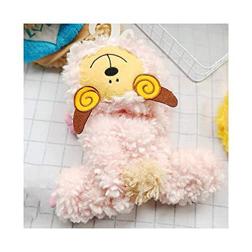 Qilo Ropa para Perros Ropa para Perros de Cachorros para pequeños Perros Medios Sudadera con Capucha, Capucha de Gato Abrigo de Invierno, Rosa