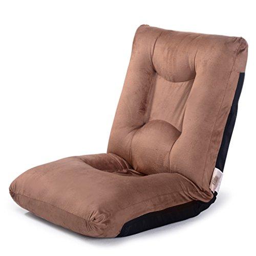 HCJLR FJXLZ® Beanbag, Extra Large épaississement Pouf canapé-lit canapé Chaise Pliante Marron Pliable, Amovible Sacs de Haricot Paresseux Faut