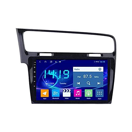yanzz Radio del Coche Navegación GPS estéreo para Volkswagen Golf 7 2014-2018 Unidad Principal Reproductor de Video Multimedia automático Receptor FM con WiFi Bluetooth MP5 DSP Mirrorlink 1080P Pa