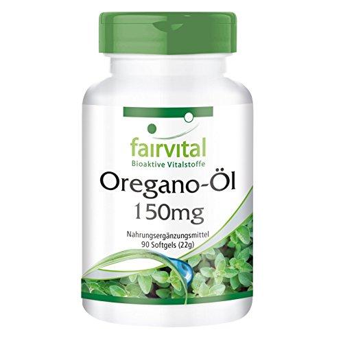 Oregano-Öl Kapseln 150mg - HOCHDOSIERT - Oregano Oil 10:1 Extrakt - Vegan - Origanum vulgare - 90 Softgels