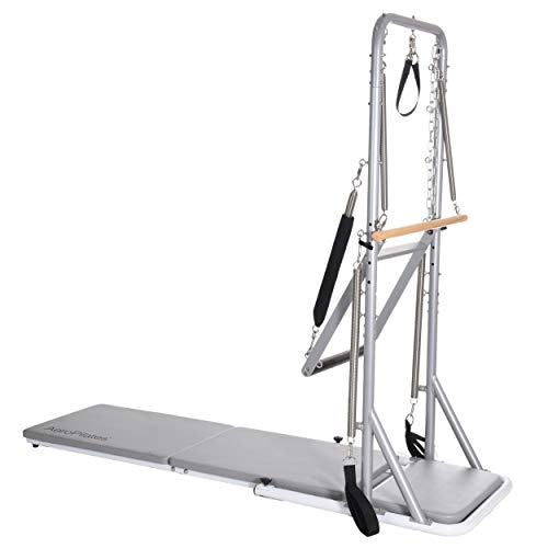 AeroPilates Precision Cadillac Studio Tower | Four Free Online Expert-Guided Workouts Included | Stream from Any Device, Gray