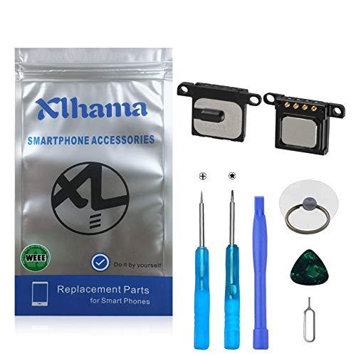 Xlhama 2-Pack Ensamblaje Auricular Altavoz Interno Compatible con iPhone 6 Plus Ear Speaker de Repuesto con Kit Desmontaje transformación de reemplazo con Completa Herramientas Incluidas