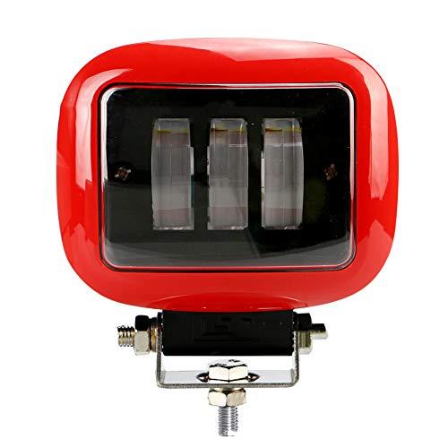 PoJu La lumière de bandes de LED allume la voiture tout-terrain carrée 30W4.5 caisse d'alliage d'aluminium rouge imperméable à l'eau de la lampe d'inspection remontent la caisse d'alliage d'aluminium